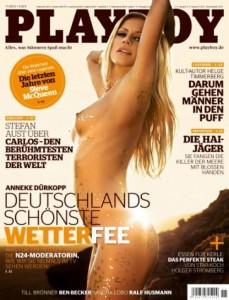 Anneke Dürkopp auf dem Playboy