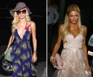 Paris Hilton mit und ohne Dekollete
