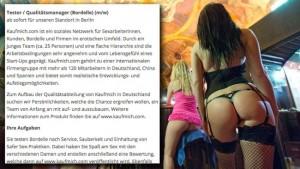 Erotikportal sucht Bordelltester