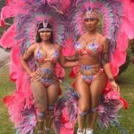 Paradiesvögel beim Karneval in Trinidad